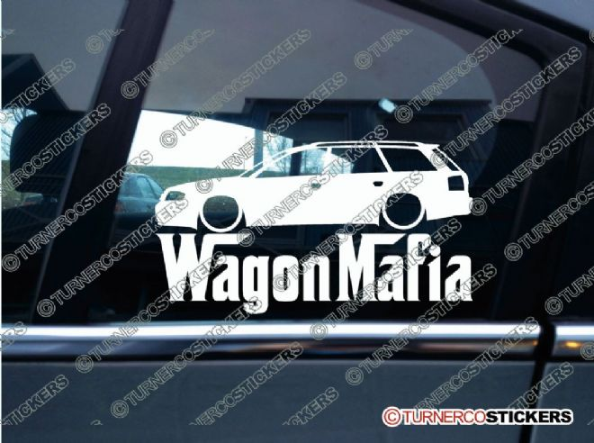 LOW Audi A6 / Allroad c5 avant WAGON MAFIA Lowered car sticker , Decal